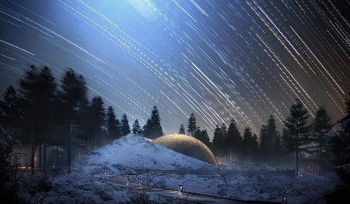 A spectacular destination for astronomy fans is being built in rural Norway