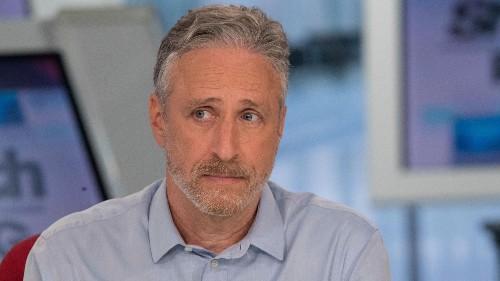 "Jon Stewart's ""turd-mining"" metaphor explains why he doesn't miss doing satire in the Trump era"