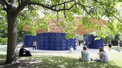 An African architect's profound message about climate change, built under a tree in London