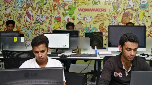 With millions of dollars and square feet, the Indian co-working space turns red hot