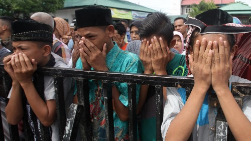 A 60-year-old Christian woman was caned in Indonesia for breaking sharia law