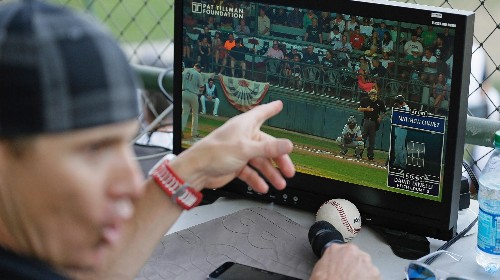 Balls and strikes were called by a computer, not an umpire, at a professional baseball game this week