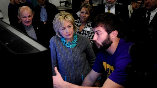 Blockchain could be the sorely needed revolution that Hillary Clinton brings to Washington