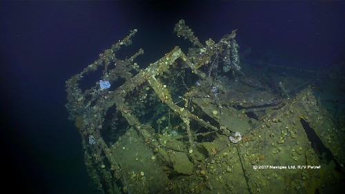 Watch explorers discover wreckage of the warship that fired the first US shots of WWII