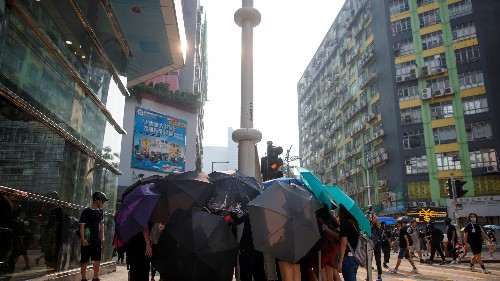 Hong Kong protestors are attacking smart lampposts