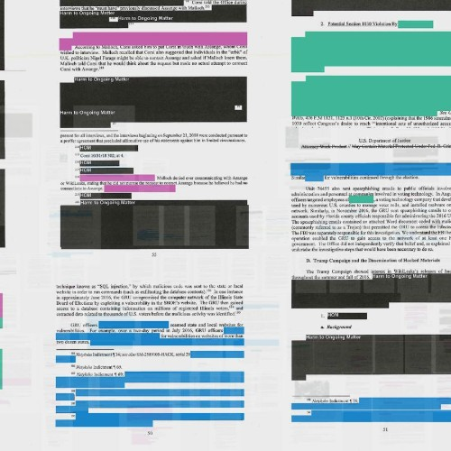 All 488 pages of the Mueller report, visualized