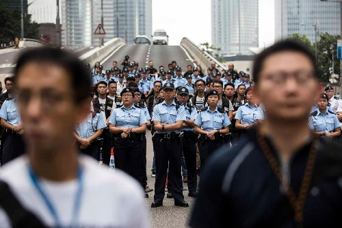 Hong Kong police deployed female cops at extradition protests to ease tensions