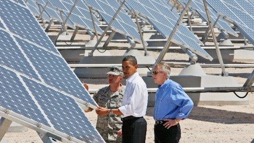 You can now make money helping the US military convert to solar power