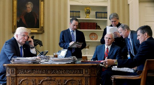 Donald Trump's rapidly disappearing team, in one photo