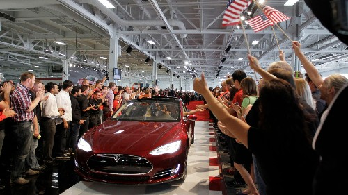 Here are 10 big car-makers Tesla now outsells in California
