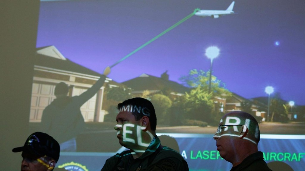 People keep shining laser pointers at planes, and it needs to stop