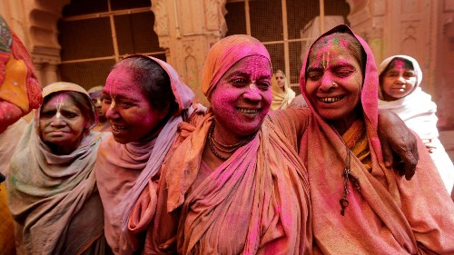 Indian widows colorfully break a 400-year-old taboo to celebrate the festival of Holi