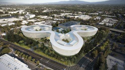 "A sneak peek at Apple's new ""spaceship"" campus in Sunnyvale"