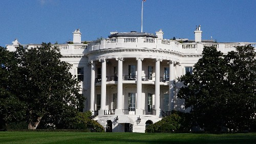 An actual sinkhole has opened on the White House lawn. It's growing
