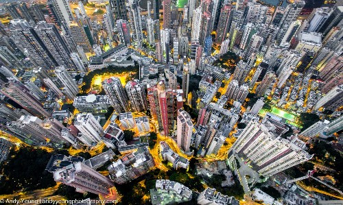Photos: Hong Kong's overwhelming urban density—captured from a drone