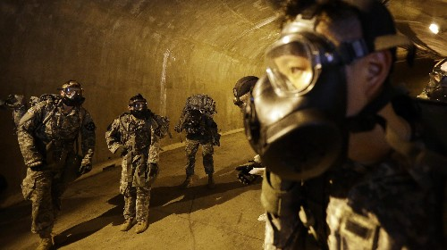There are 5,000 tunnels under North Korea, and US soldiers are training to fight in them