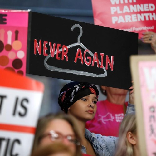 """Pictures of """"Stop the Bans"""" abortion-rights rallies"""