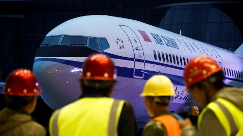 Boeing's new plant in China just delivered its first plane
