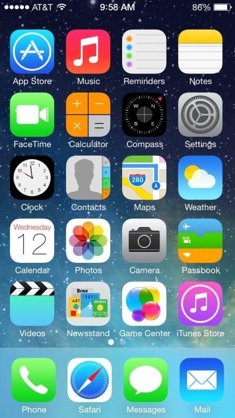 Apple ios7 - Magazine cover