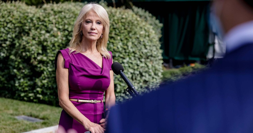 "Of Course Kellyanne Conway Thinks Censoring Trump On Social Media Is ""Election Interference"""