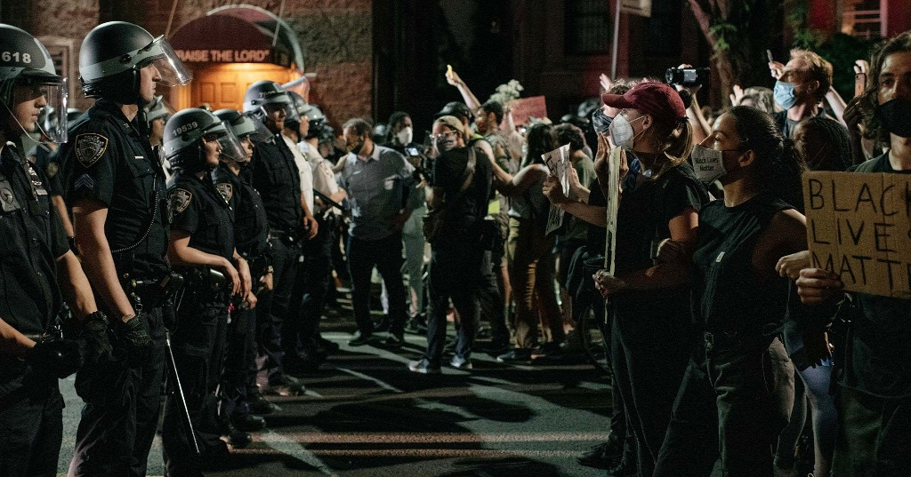 Police Are Beating People To The Ground To Enforce A Curfew That Is Already Racist