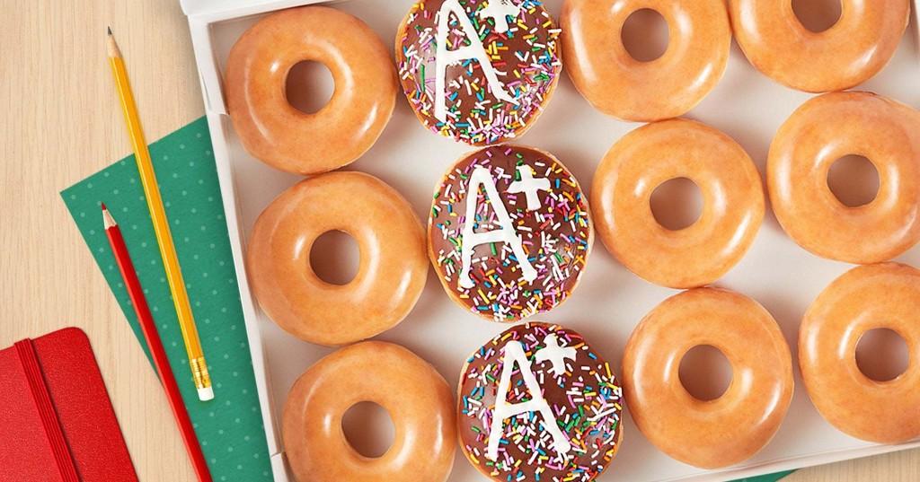 Celebrate Teachers With A Dozen Free Krispy Kreme Doughnuts Today