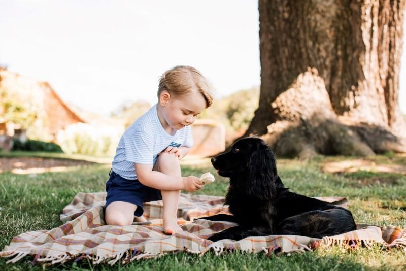 New pictures released as Britain's Prince George marks third birthday