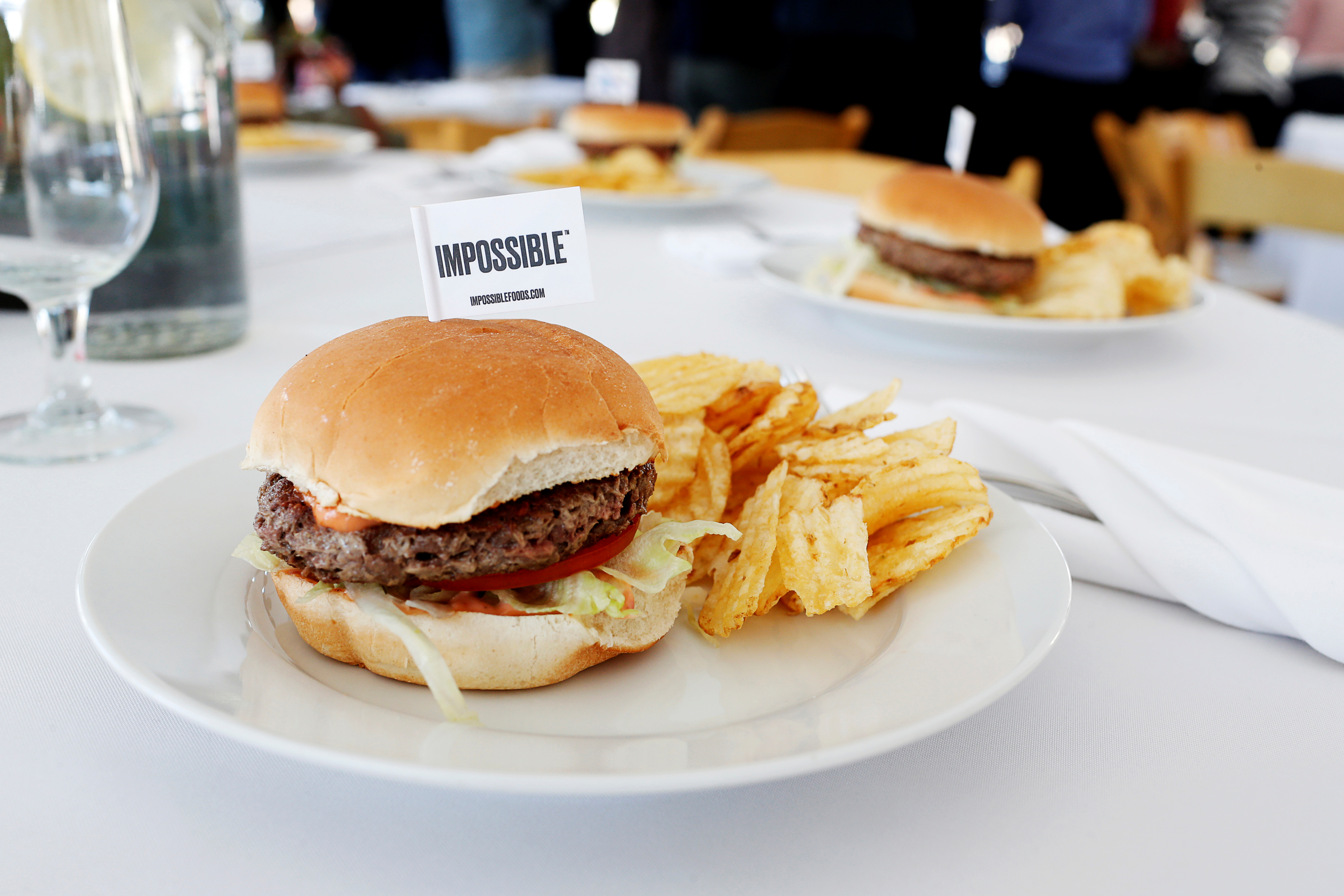 Dave & Buster's replaces Impossible burgers with new plant-based product