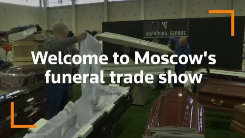 Crystal-studded coffin highlight of Moscow funeral trade show | Reuters Video