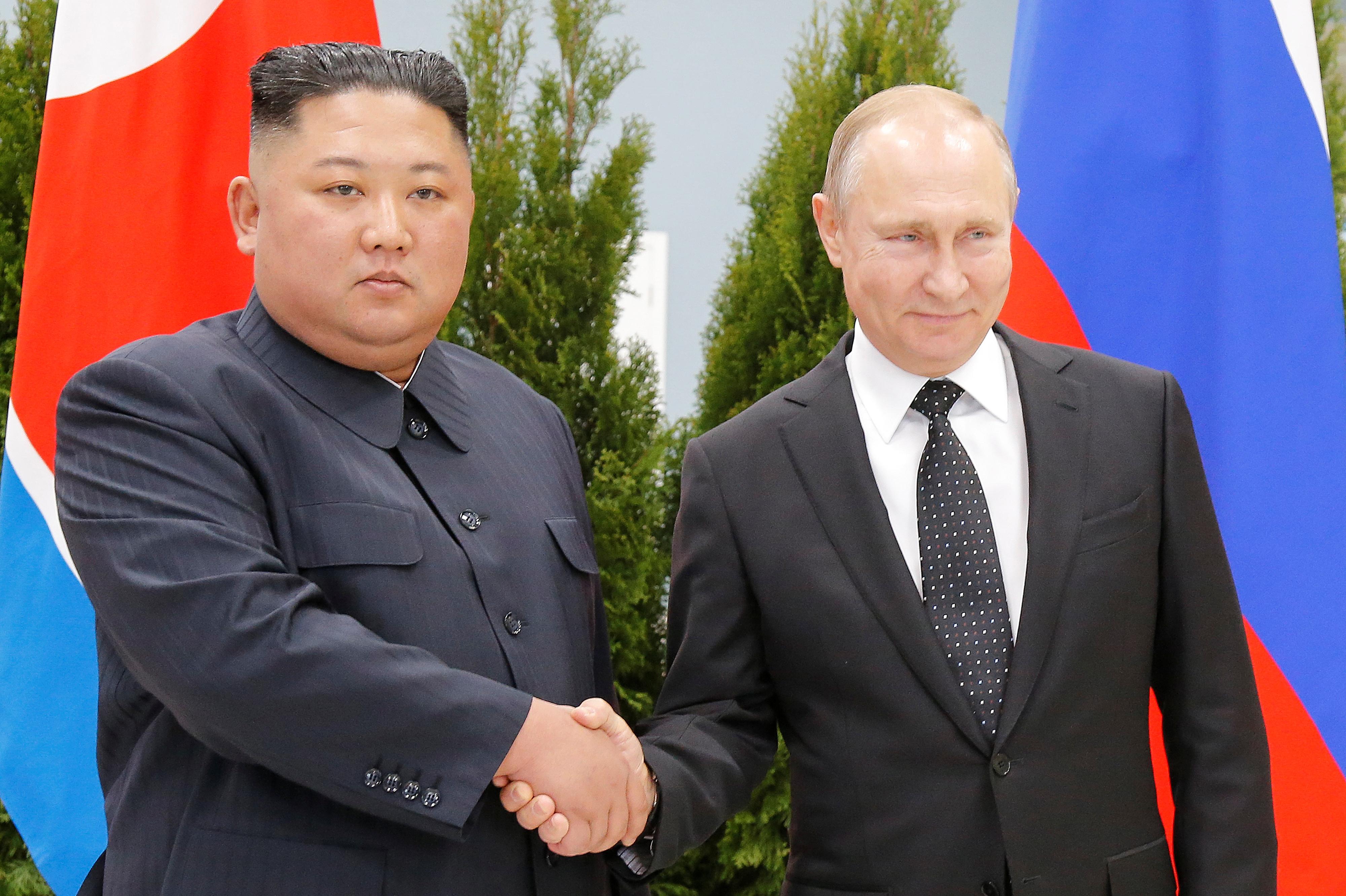 North Korea's Kim says he will coordinate views on peninsula issues with Putin
