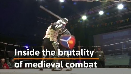 Blood and steel: Russia's Medieval Fighting Championship   Reuters Video