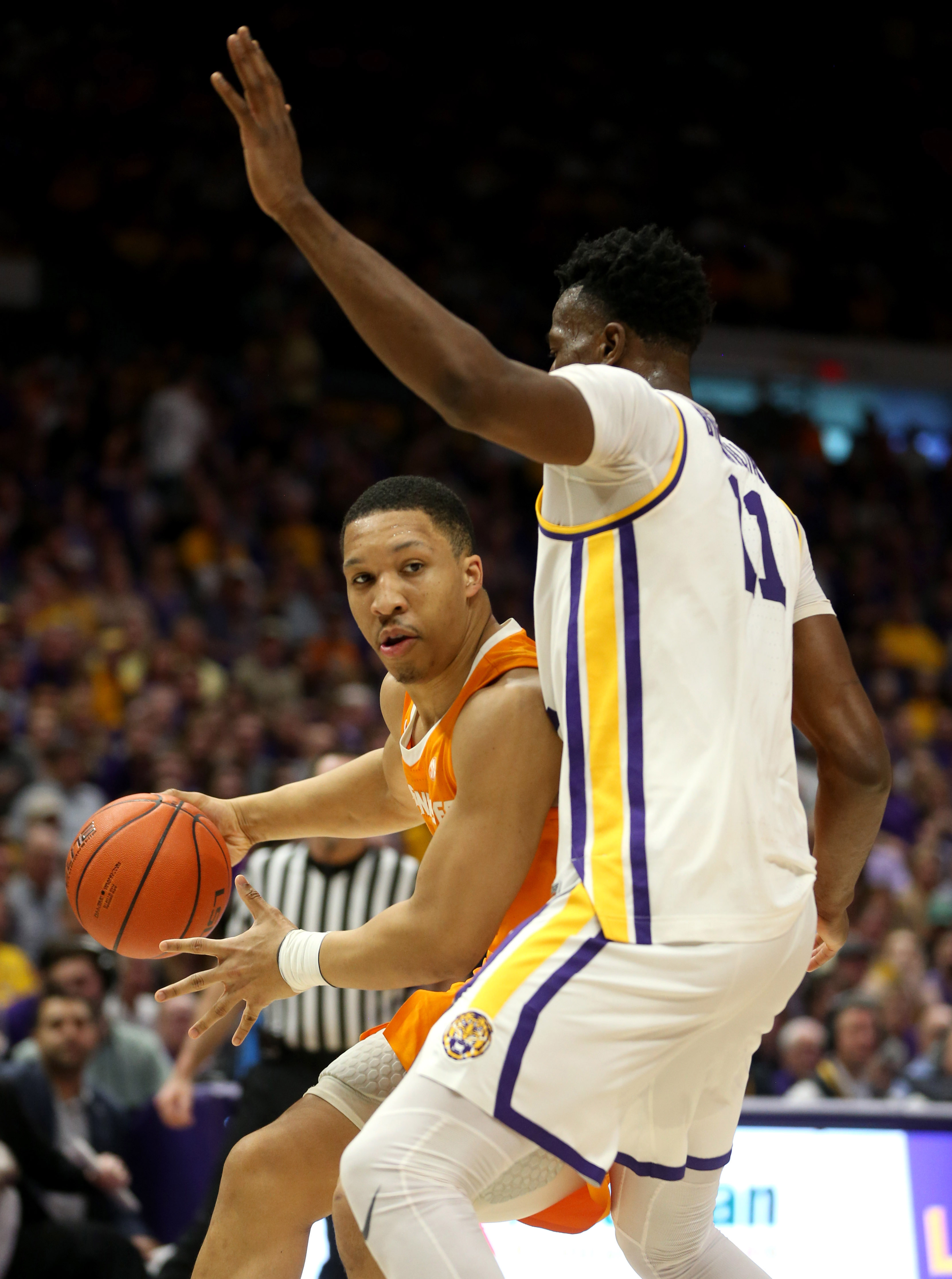 Smart lifts No. 13 LSU past No. 5 Tennessee in OT win