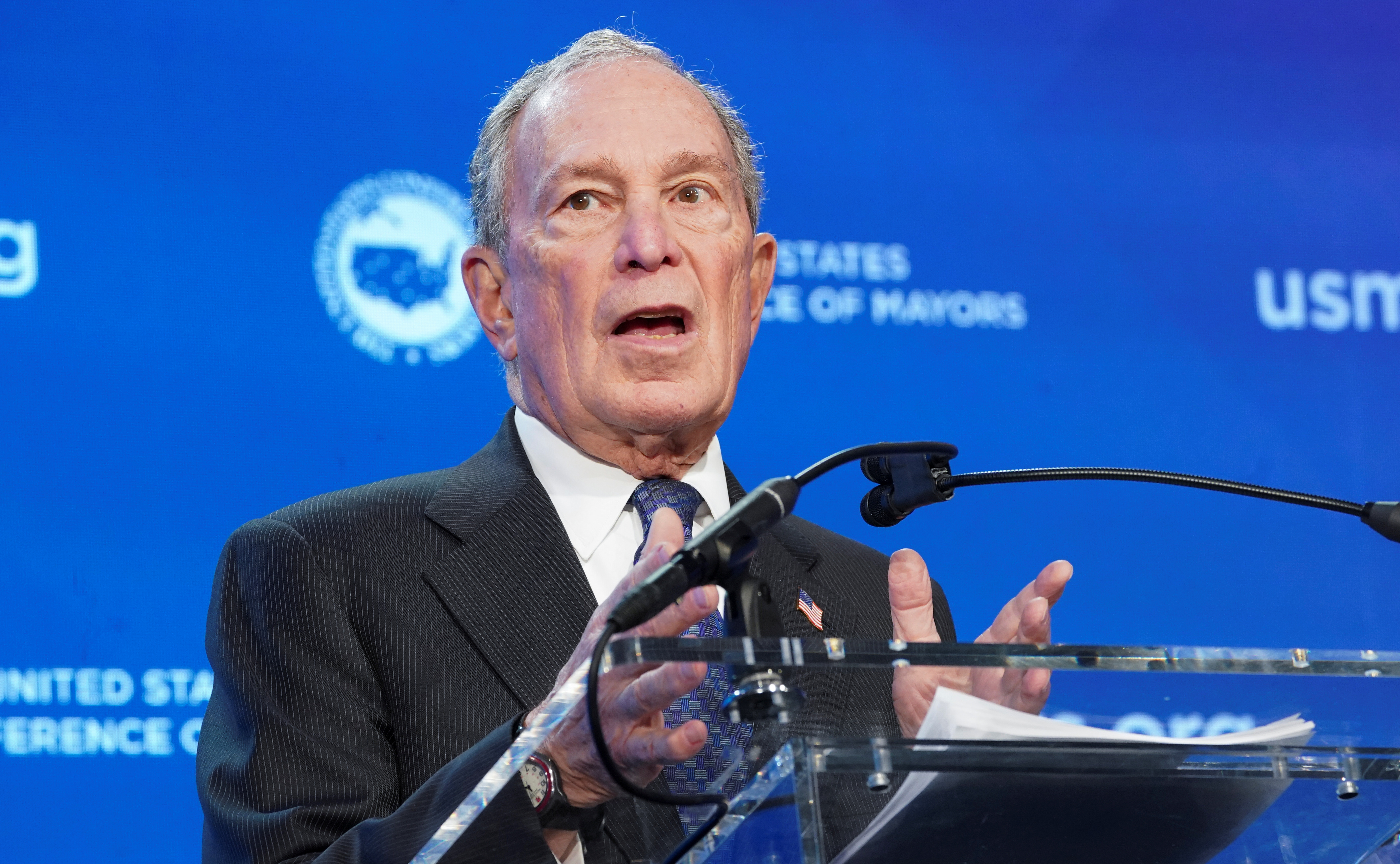 U.S. candidate Bloomberg vows to back Israel, takes dig at Sanders