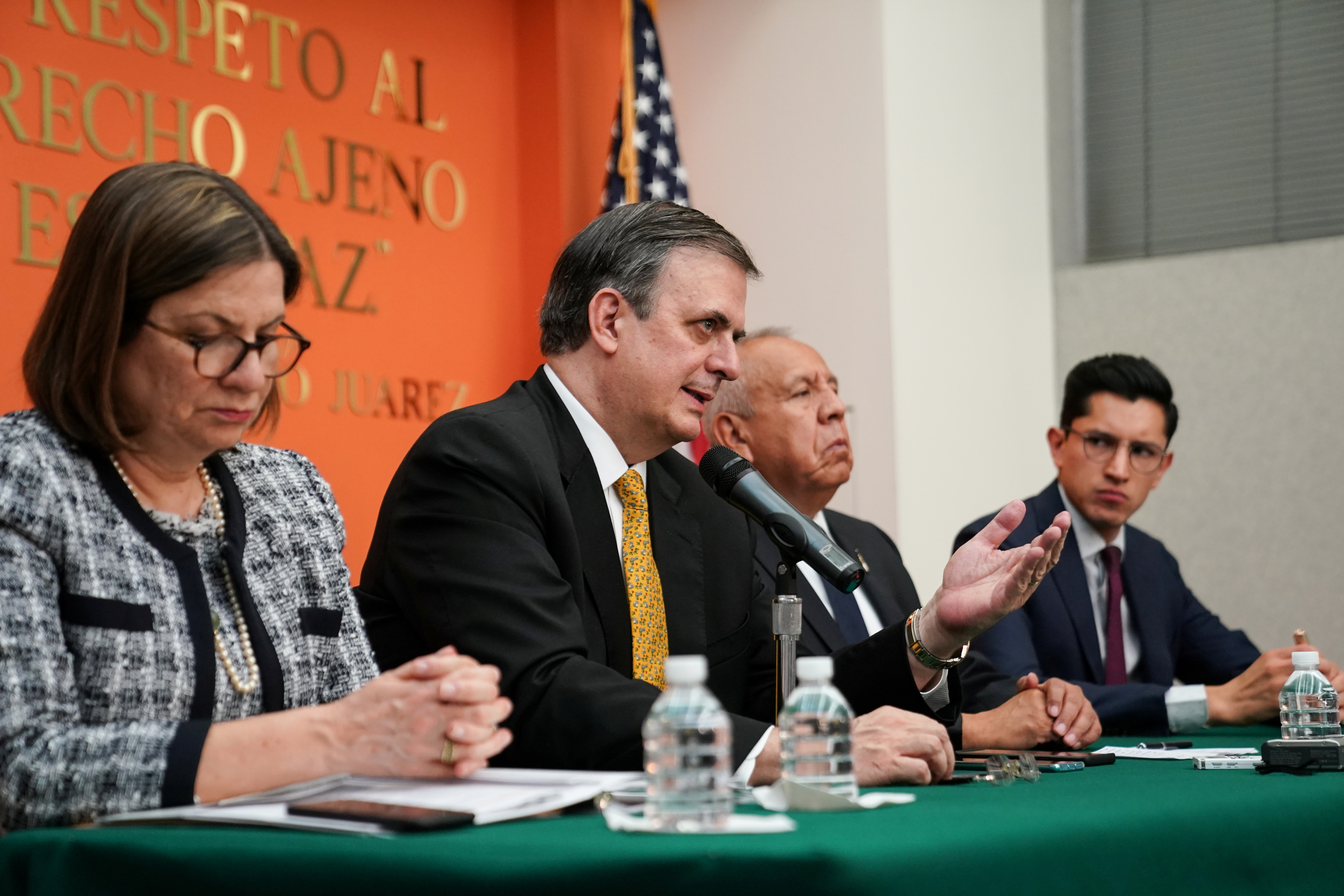 Mexican foreign minister cites sharp decrease in immigration to U.S.