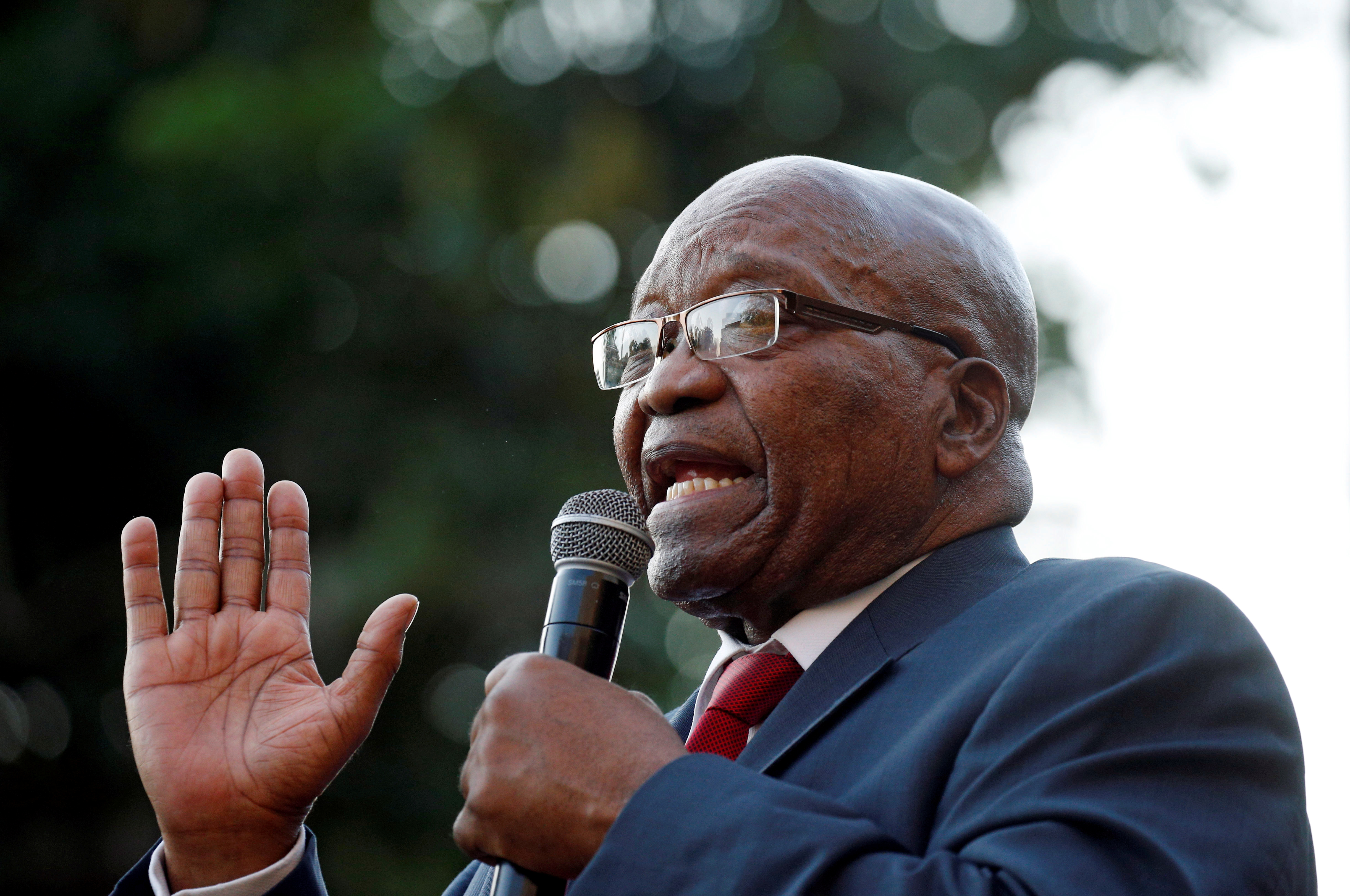 Lawyers for South Africa's Zuma tell court he is being treated unfairly