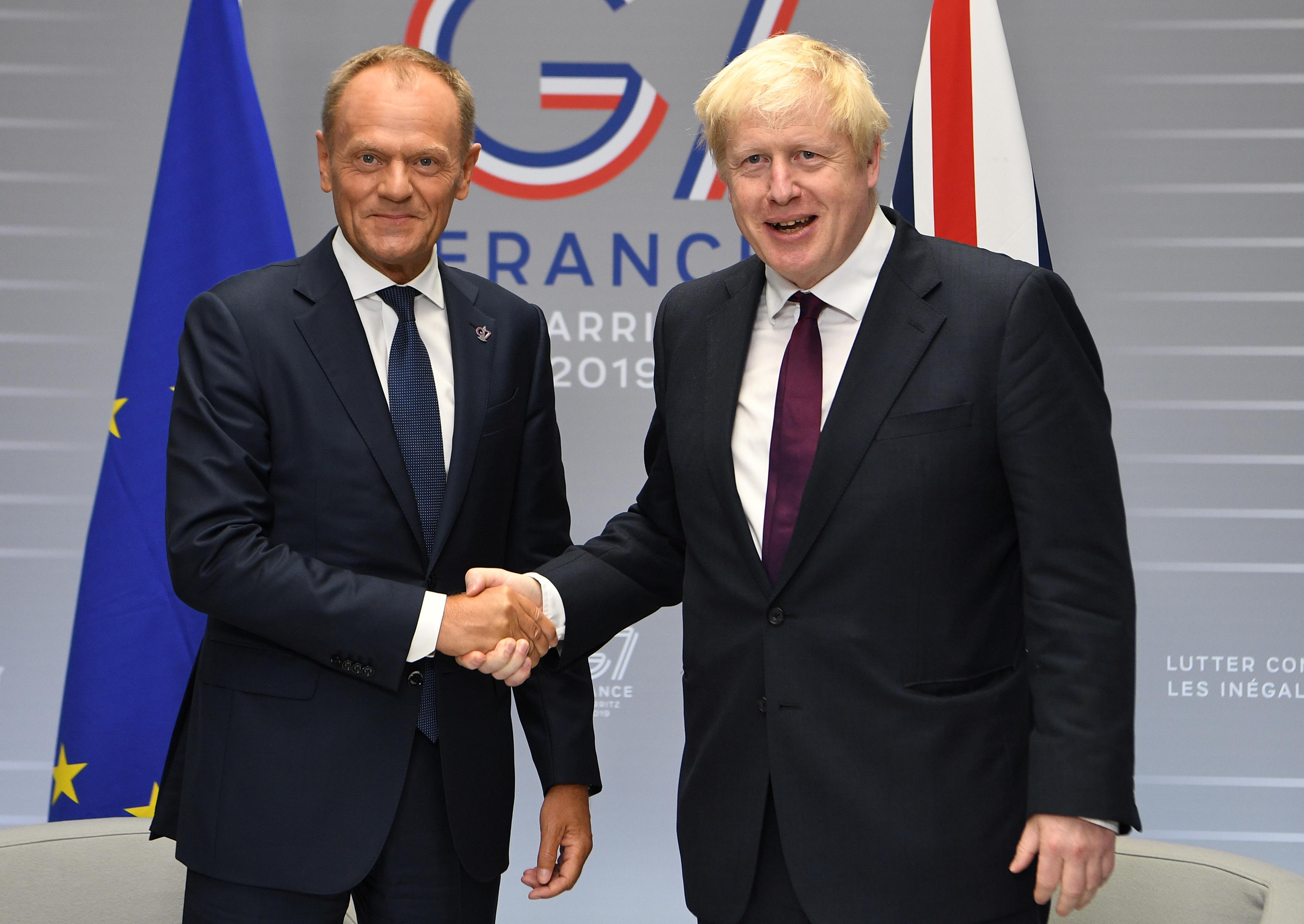 EU's Tusk, Britain's Johnson to discuss Brexit next week