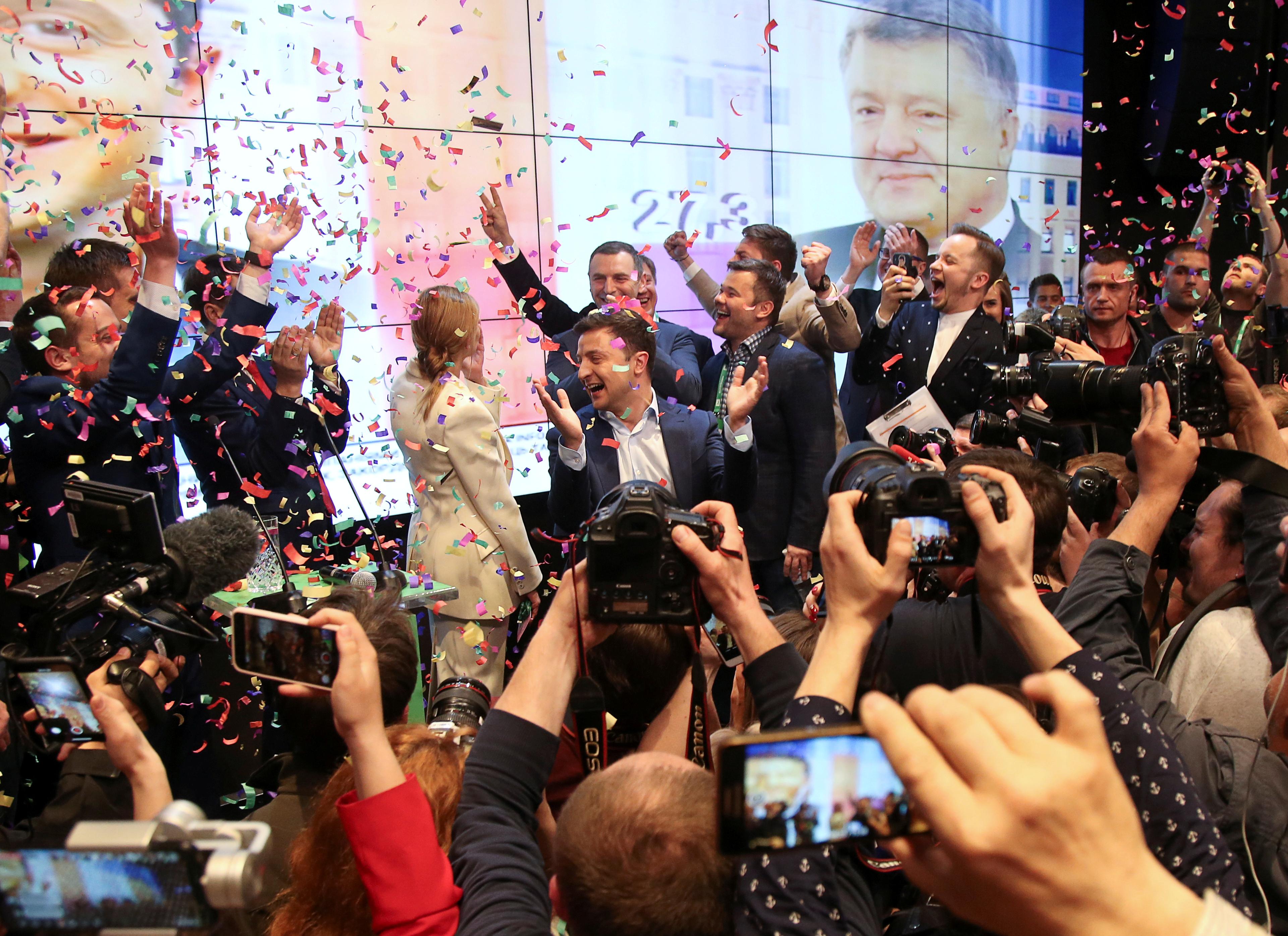 Team Zelenskiy: behind the scenes in Ukraine election win