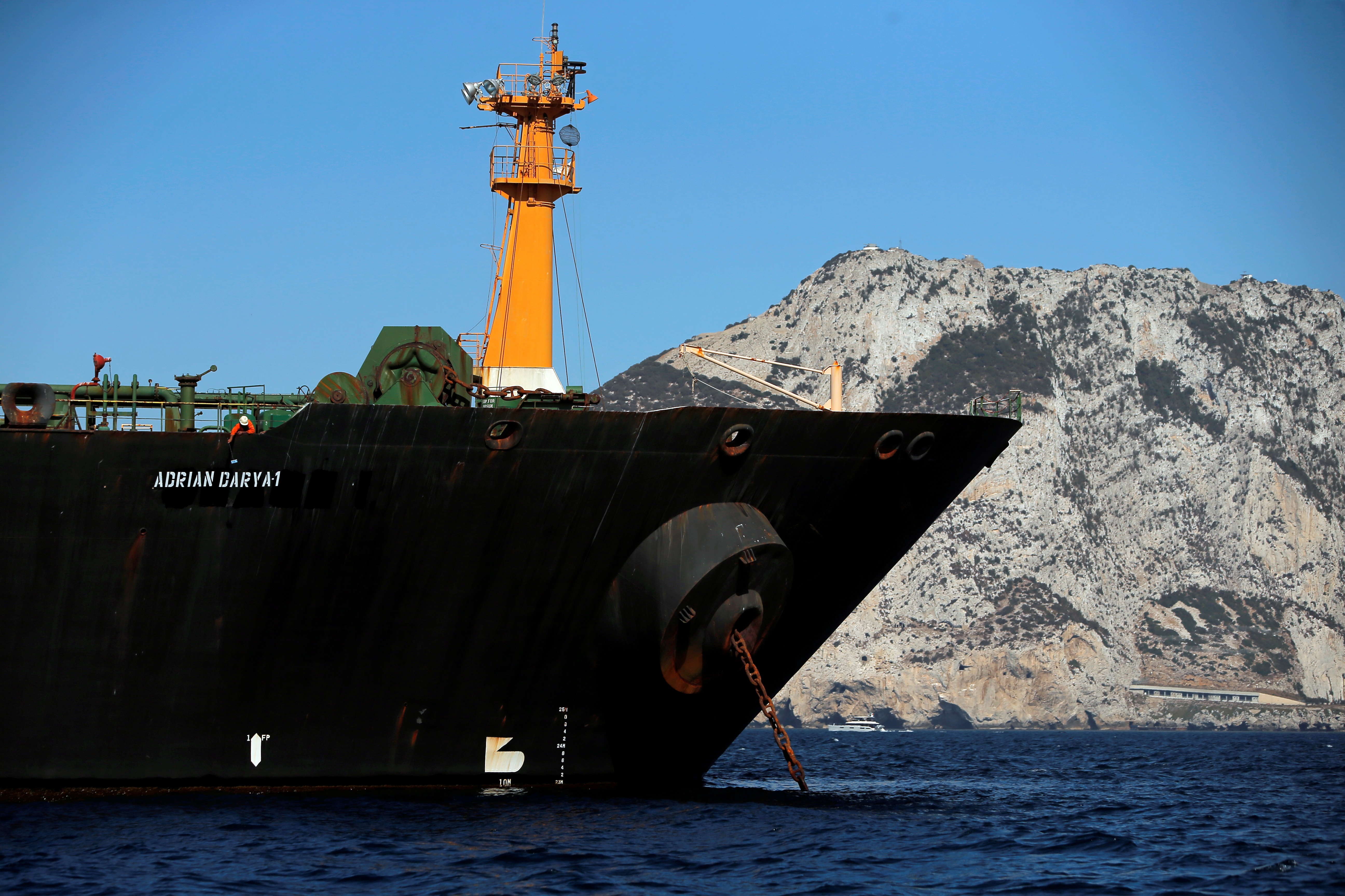 Iranian tanker expected to leave Gibraltar late Sunday: Iran's envoy to UK