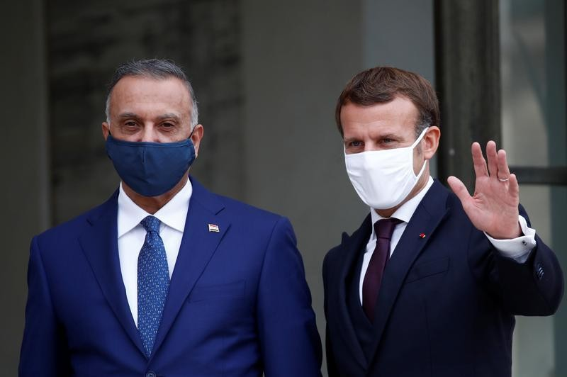 France's Macron, Iraq PM highlight importance of fight against terrorism