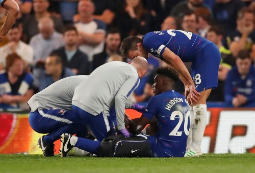 Soccer: Chelsea's Hudson-Odoi suffers Achilles injury in draw with Burnley