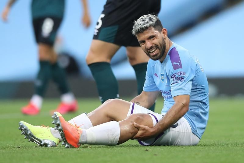 Aguero could be out of action until November, says Guardiola