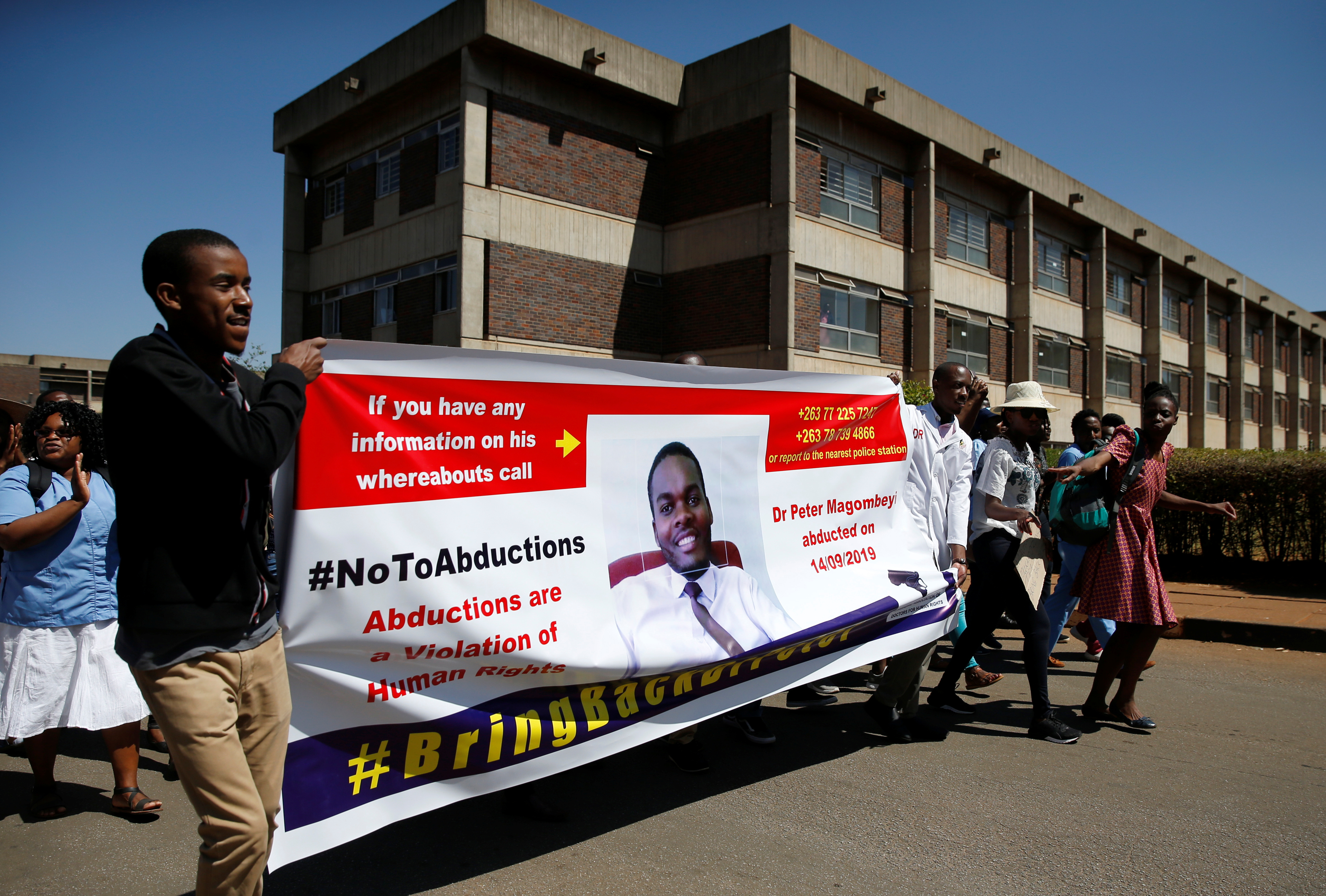 Missing Zimbabwe doctor found but pay strike to go on: union