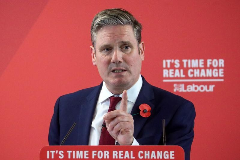 UK's Labour ties with Conservatives for first time since 2019, YouGov poll finds