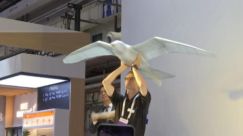 Bionic flying bird soars at China robot show | Reuters Video
