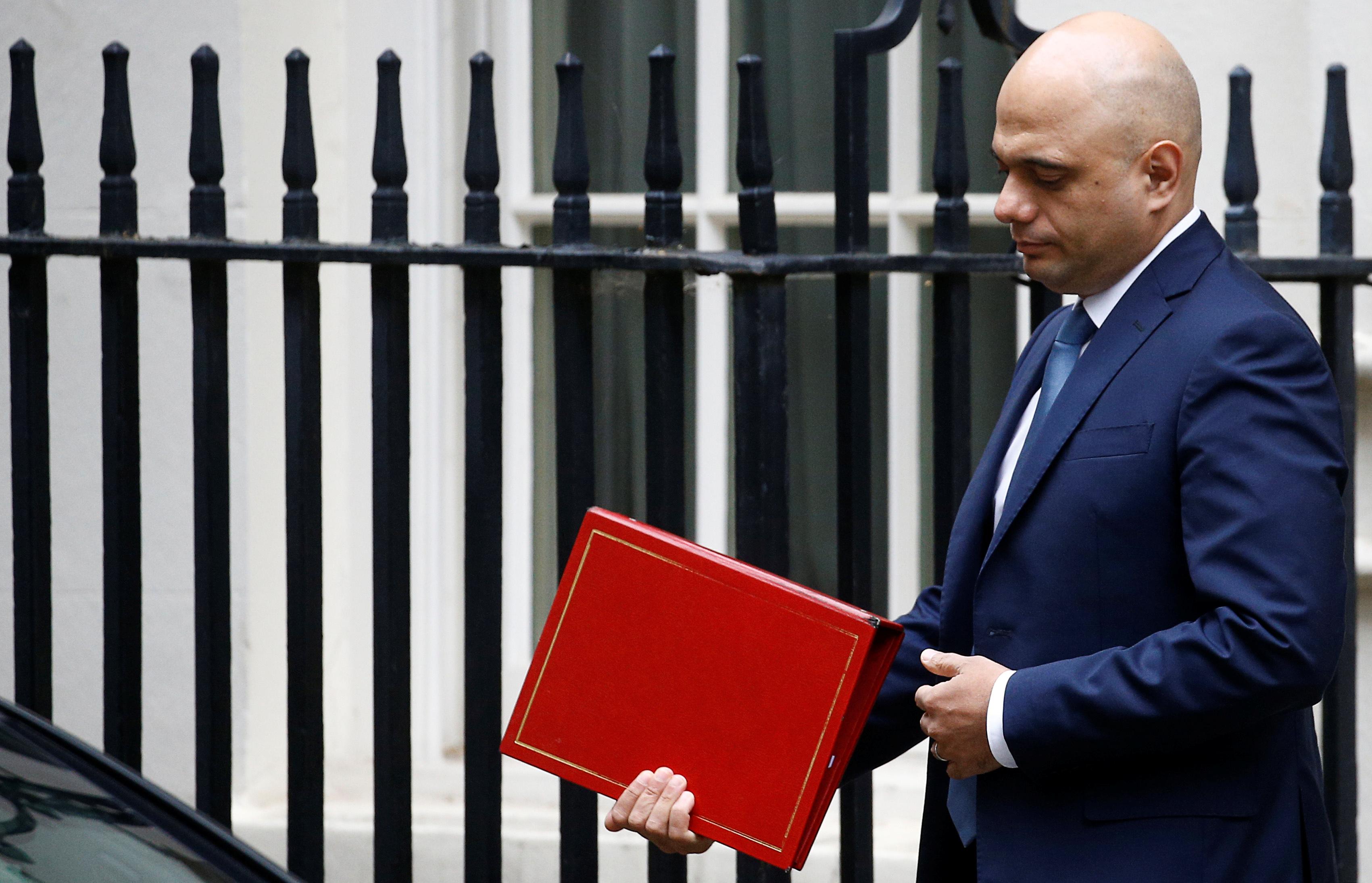UK's Javid plans first post-Brexit budget on November 6