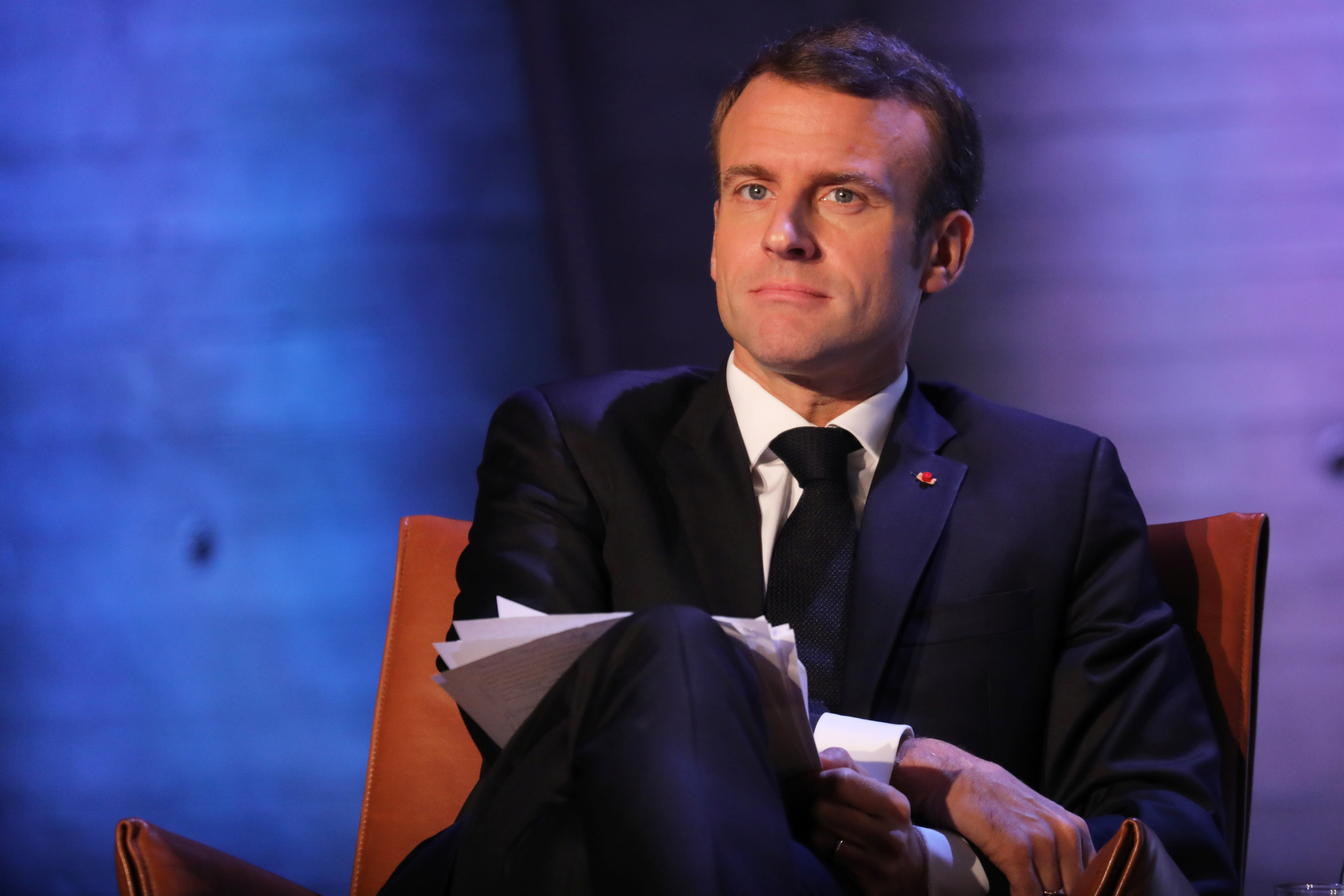 Macron says agreed with Trump to pressure oil producers