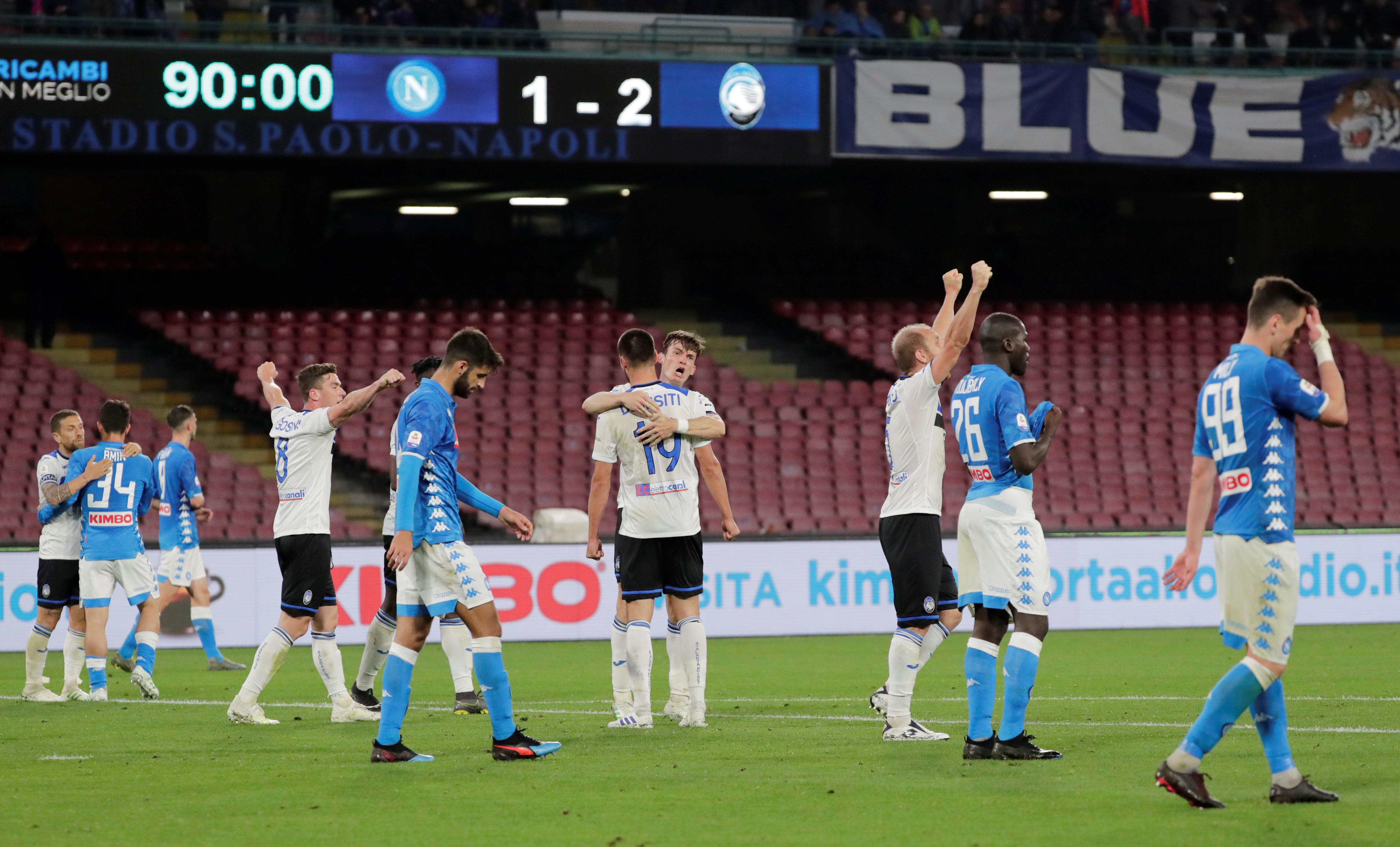 Soccer: Atalanta sink Napoli to move closer to top four finish