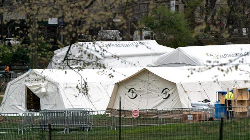 Noticias de América - El Central Park neoyorquino acoge un hospital de campaña para pacientes con coronavirus