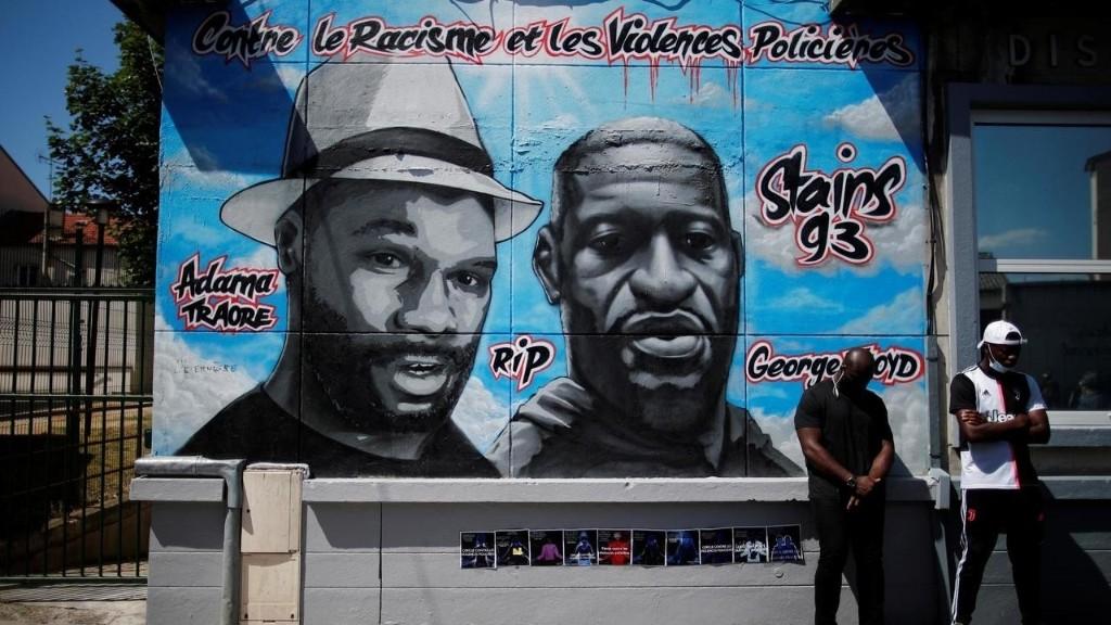France: la fresque en hommage à George Floyd et Adama Traoré vandalisée