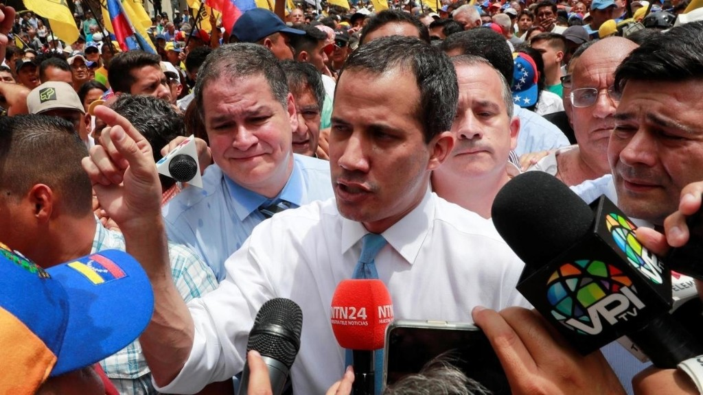 France denies Venezuela's opposition leader Juan Guaido is hiding in Caracas embassy